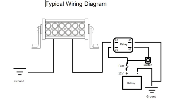 v spot light wiring diagram images the diagram below shows a 12v spot light wiring diagram images the diagram below shows a simple wiring for connecting led light bar wiring diagram pictures to pin on